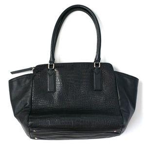 Banana Republic black genuine leather tote bag.